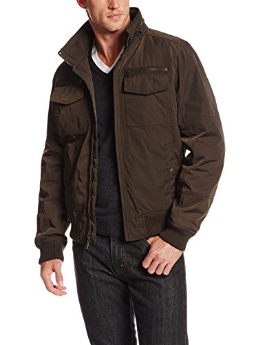 Tommy Hilfiger Men's Poly-Twill Performance Bomber Jacket, Green, Medium