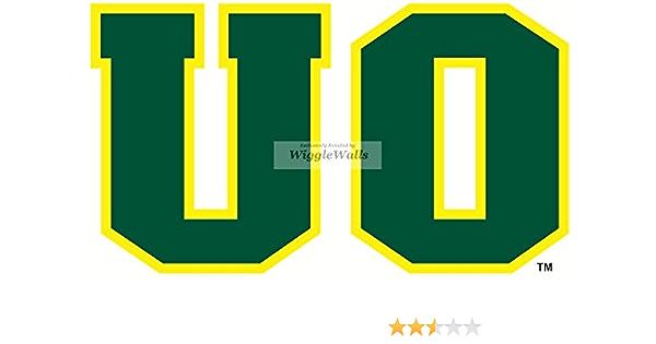 NCAA Oregon Ducks Yellow O Logo Dangler Earrings