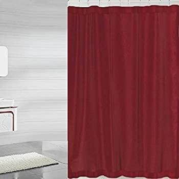 Nice BH Home Mildew Free Polyester Fabric Water Repellent Shower Curtain Liner ( Burgundy)