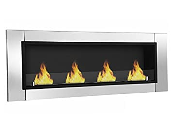 Moda Flame GF101694 Wraith Ventless Bio Ethanol Wall Mounted Fireplace