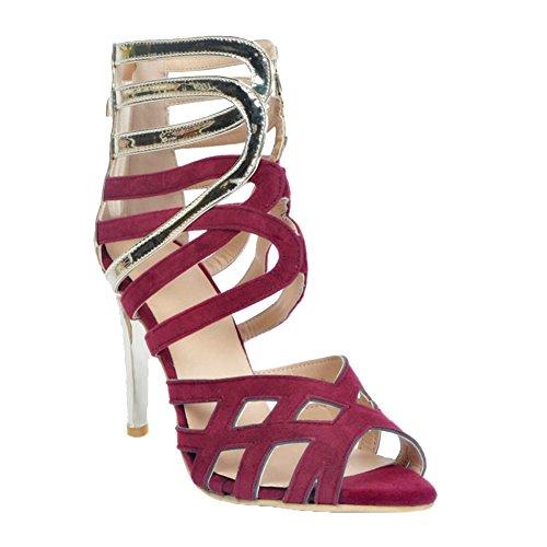Kolnoo Womens Fashion Handmade 11cm High Heel Shoes Summer Sexy Party Sandals Shoes Purple
