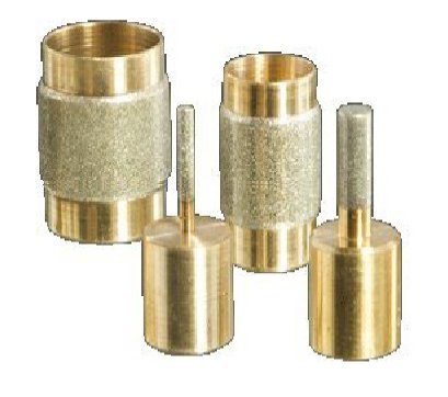 Stained Glass Grinder Head Bits Set- 4 Sizes Diamond on Brass Core (Glass Grinder Bits compare prices)
