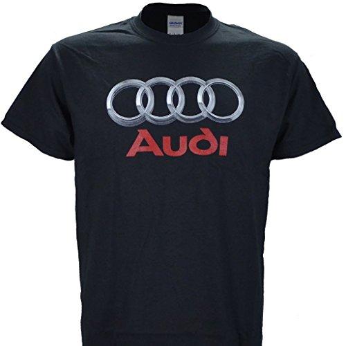Audi Logo on a Black T Shirt