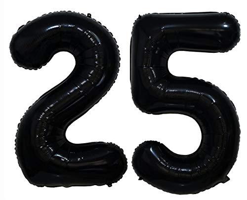 Tellpet Black Number 25 Balloon, 40 Inch ()