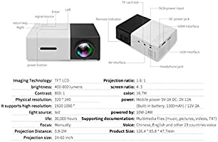Mini proyector, Proyector de Video de 600 lúmenes Compatible con ...