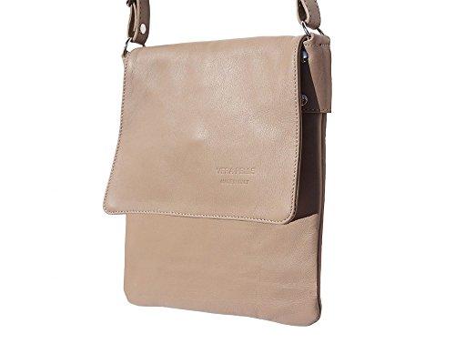 Shoulder LaGaksta Ashley Bag Leather Italian Taupe II Crossbody Soft RAn6Xq