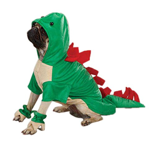 Large Dog Teddy Bear Costume (Casual Canine Dogosaurus Dog Costume, Medium, Green)