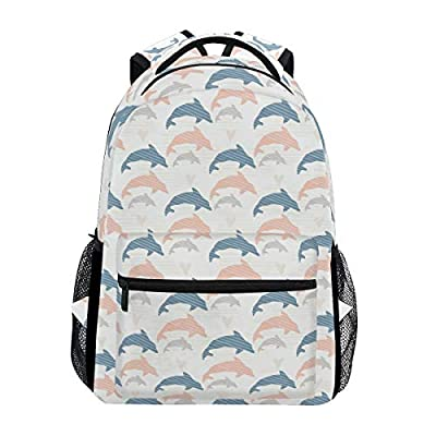 Miami Dolphin Hat Handsome Trekking Backpack Fashion Backpack Oversized Backpack Men and Women Durable Travel Computer Backpack 17 Inch Notebook Waterproof Large Business Bag