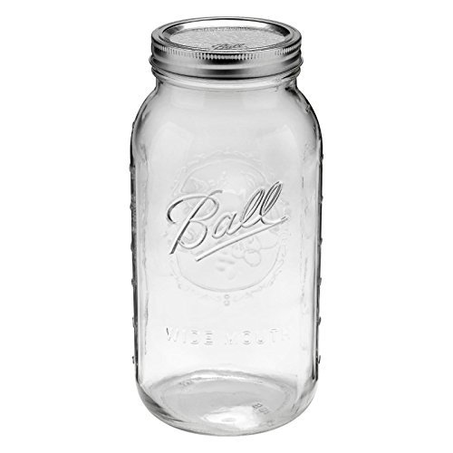 1 Ball 64oz Wide Mouth Half Gallon Mason Jar by Canning Jar