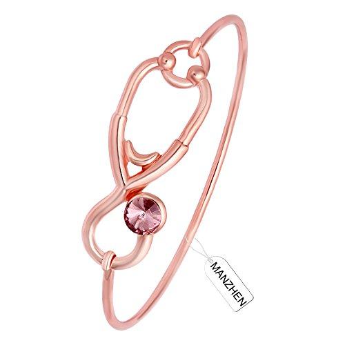 MANZHEN Stethoscope Caduceus Bracelets Graduation product image