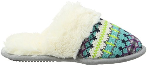 Memory Combo Fairisle Dearfoams 10401 Toe Multicolor Femme Pantoufles And With Foam Poms Closed cool Scuff 0HwdOqH