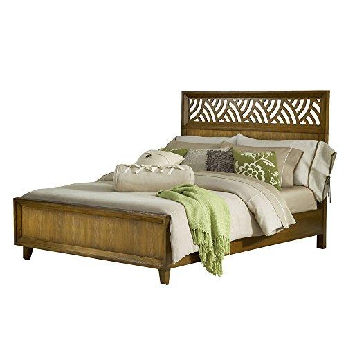 Modus Furniture International Trellis Panel Bed, California Kings, Pecan