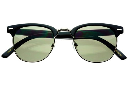 Half Frame Fashion Celebrity Retro Vintage Style Clubmaster Sunglasses - Celebrities Clubmaster