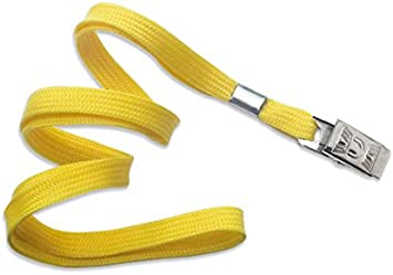 LOT 25 FLAT NECK LANYARD WITH BULLDOG CLIP FREE SHIPPING 6 COLORS AVAILABLE