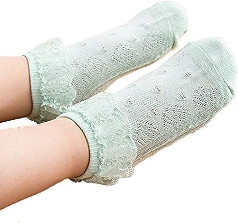JT-Amigo Pack de 6 Pares Calcetines con volante de encaje para beb/é ni/ña