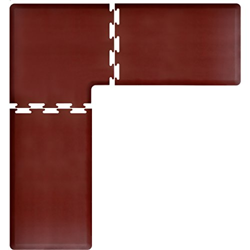 WellnessMats PuzzlePiece Collection L Series Burgundy Anti-Fatigue Mat, 8 x 7.5 Foot by WellnessMats