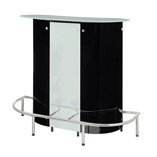 Coaster Home Furnishings Contemporary Bar Table, Black and White