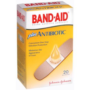 PACK OF 3 EACH BAND-AID ANTIBIOTIC AOS 20EA - Antibiotic Aid Band Bandages