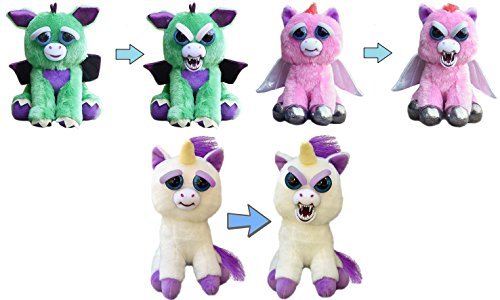 Price comparison product image Feisty Pets Mystic Mischief 3-Pack: Dragon, Pegasus, Unicorn