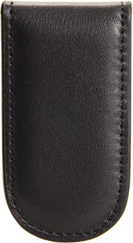 Bosca Nappa Vitello Collection-Magnetic Money Clip, Black Leather