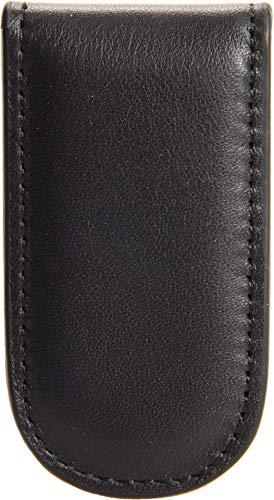 Bosca Nappa Vitello Collection-Magnetic Money Clip, Black Leather