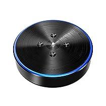 Bluetooth Speakerphone - eMeet M2 Wireless Conference Speakerphone Business Conferencing Call for Meeting Size of 5-8, 360º Far-Field Voice Audio Pickup AI Self-Adaptive, Skype, Webinar, Phone