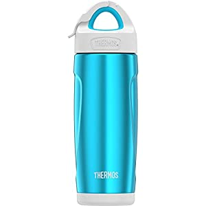 THERMOS Vacuum Insulated Stainless Steel Sport Bottle with Covered Straw, 18-Ounce, Teal