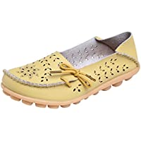UJoowalk Women's Casual Hollow Out Loafer Flat Shoes