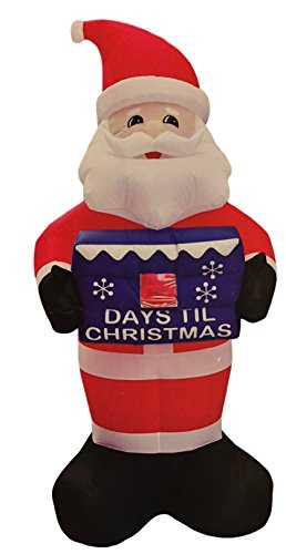 Santa Christmas Countdown Inflatable 8 Feet Tall - Count Down Up to 99 Days Days Until Christmas Yard Sign