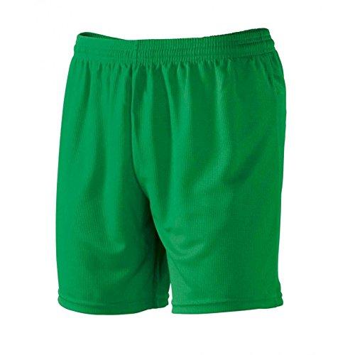 taglia 40 30c6e ef7d3 Pantaloncini Corti Uomo Bermuda Per Sport Calcetto e Calcio Macron Team  Shorts , Colore: Verde, Taglia: S