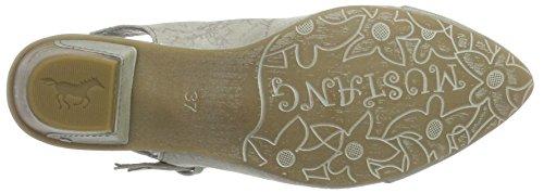 Mustang 1227-901-243, Zapatos de Talón Abierto para Mujer Blanco (243 Ivory)