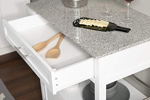 Kitchen Linon Kyler White Kitchen Cart modern kitchen islands and carts