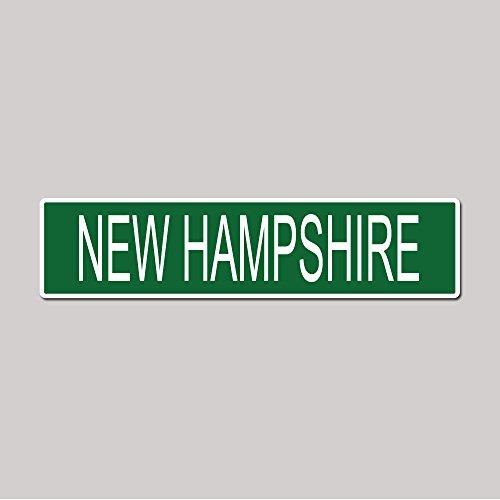 NEW HAMPSHIRE State Pride Green Vinyl on White - 4X17 Aluminum Street - Granite Plaza