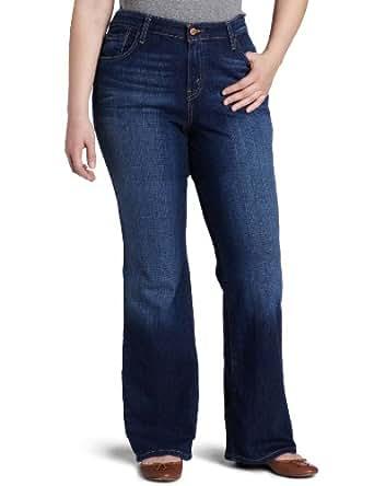 Levi's Women's Plus-Size 580 Bootcut Jean (16 Long, Winding Road (99% Cotton, 1% Elastane))
