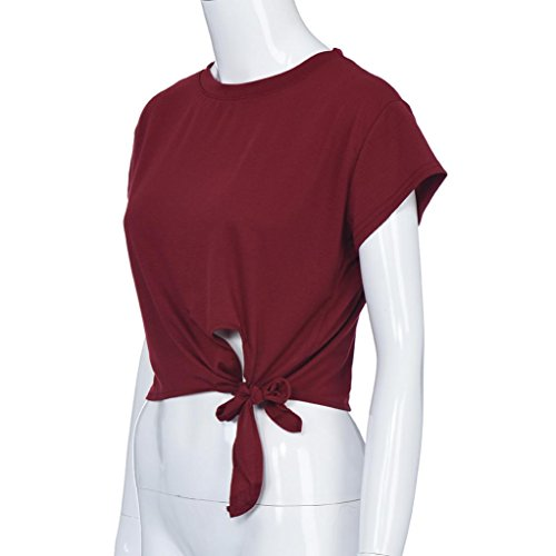 Rouge ❤️Femmes sans shirt débardeurs Crop Lettre T Tops Print manches Tefamore Blouse Vest 1rx7q41Xw
