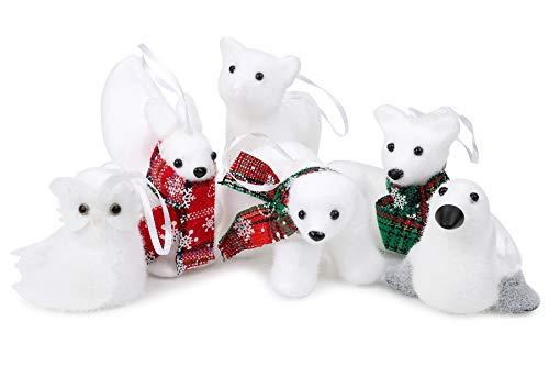 UANDME Woodland Animals Christmas Ornament, Forest Friends Set (White Deer Ornaments Christmas)