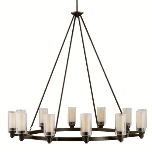 2347OZ Circolo Chandelier Bronze Finish