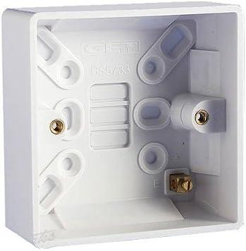 Bulk Hardware bh04932 Moldeado Interruptor de luz Superficie Cajas de conexión empotrable (25 mm de Profundidad: Amazon.es: Bricolaje y herramientas