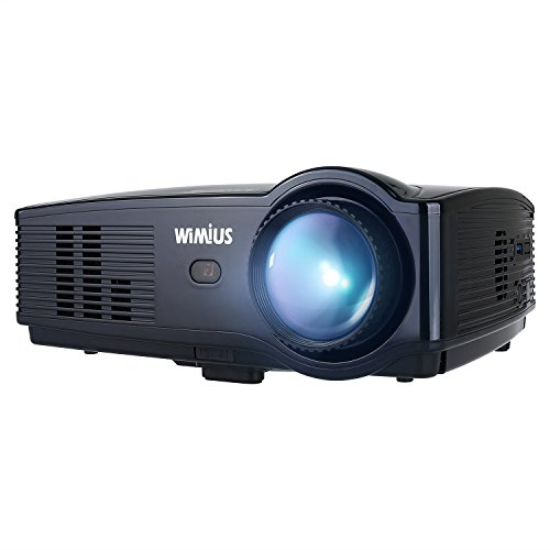 Projector, WIMIUS T4 3500 Lumens Video Projector Support 1080P 200