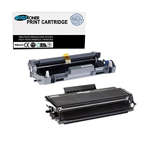 (DIGITONER High Yield Toner Cartridge Replacement for Brother DR520 DR620 TN580 TN650 DCP-8070D/8080DN/8085DN/HL-5350DNLT/5370DW/5370DWT/5380DN/MFC-8380DN/8680DN/8690DW [1DR520+1TN580, 1+1} Pack])