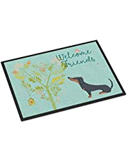Caroline's Treasures Airedale Terrier Snowman Christmas Door Mat Multicolor, Welcome, 18 x 27