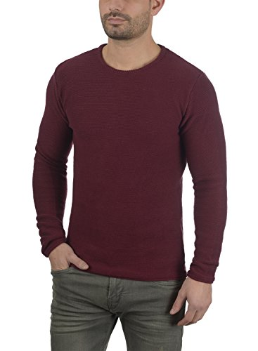 Homme En Rebel Tricot Redefined Maille Pull Mace Bordeaux 100 over Pull Encolure Coton Rond 8gwZq6H