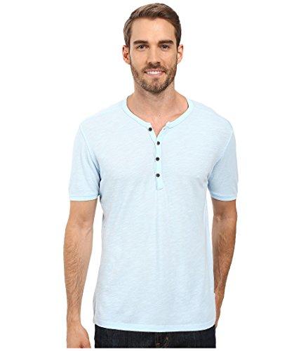 Agave Denim Men's Novo Short Sleeve Henley Cool Blue T-Shirt ()