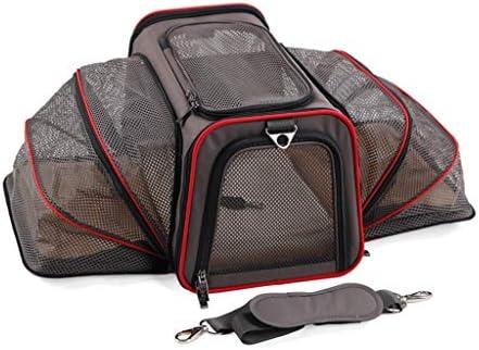 JIANXIN ペットキャリア、ポータブルペットバッグ、ペットアウトリュックサック、猫と犬バックパック、アウトレットバックパック、両面拡張 (色 : Gray, サイズ さいず : L l)