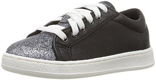 Guess Kids Shoes (GUESS Girls' Celeste Sneaker, Jet Black/Frost Grey, 31 EU/13 M US Little Kid)