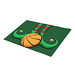 SweetyBox Decorative Door Mats Sport Basketball Christmas Elf Feet