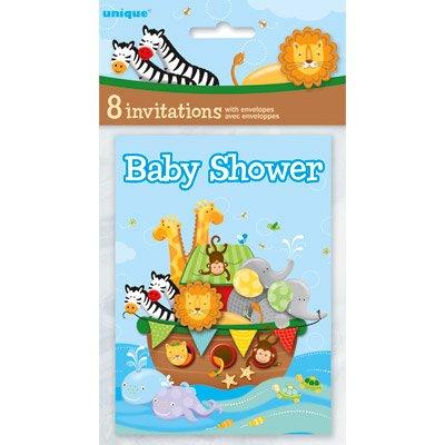 (Noah's Ark Baby Shower Invitations, 8ct )