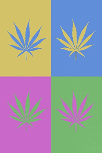 Marijuana Weed Pot Cannabis Joint Blunt Bong Leaves Pop Art