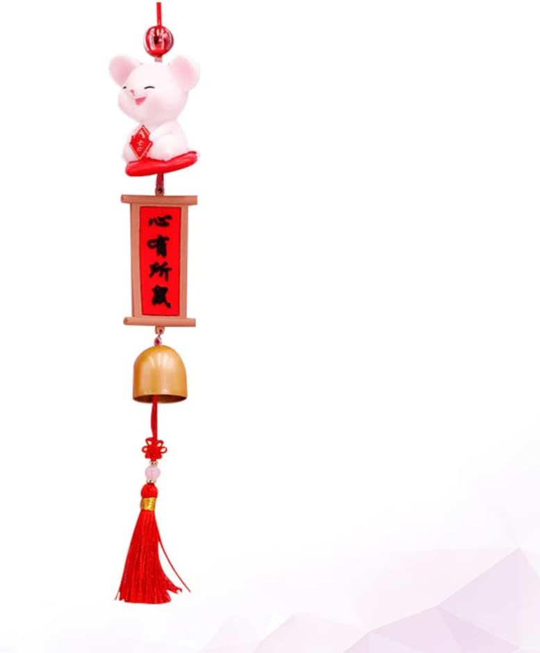 Vosarea Chinese New Year Red Rat Ornament Rat Year Charm Decorations Plush Mouse Hanging Pendant Home Decor for 2020