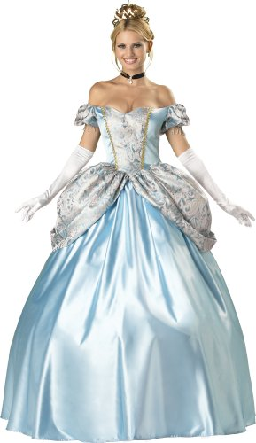 InCharacter Costumes, LLC Women's Enchanting Princess Costume, Blue, Large
